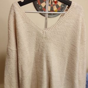 Forever 21 Fuzzy Sweater White